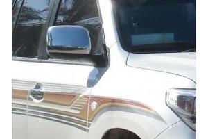 Накладки на зеркала   (нерж.) 2 шт. (LAND CRUISER 200 SUV J20)(2008-2012)