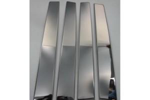 Молдинги дверных стоек (нерж.) 8 шт.(LAND CRUISER 200 SUV J20)